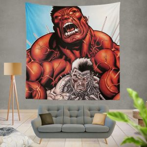Avengers Red Hulk & Cable Marvel Comics Wall Hanging Tapestry