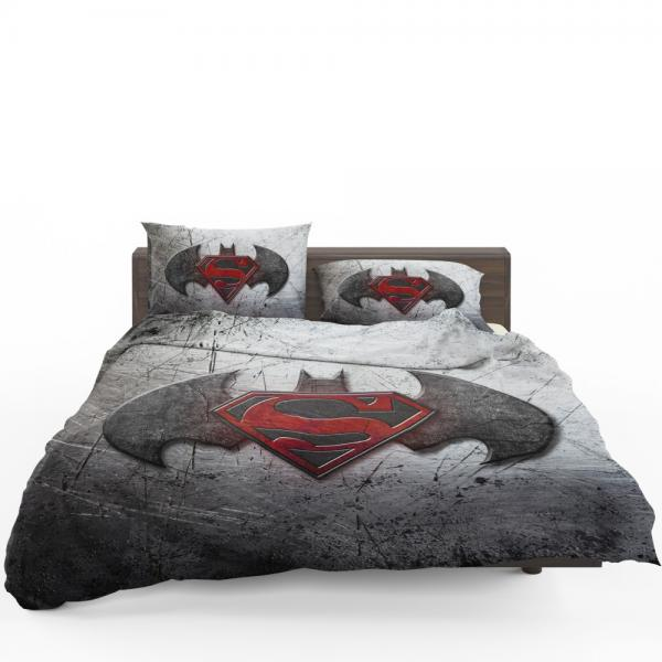 Batman v Superman Dawn of Justice Movie Logo Bedding Set