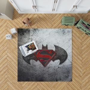 Batman v Superman Dawn of Justice Movie Logo Bedroom Living Room Floor Carpet Rug