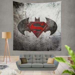 Batman v Superman Dawn of Justice Movie Logo Wall Hanging Tapestry