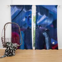 Captain Nebula Marvel Comics Bedroom Window Curtain