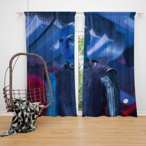 Captain Nebula Marvel Comics Bedroom Window Curtain