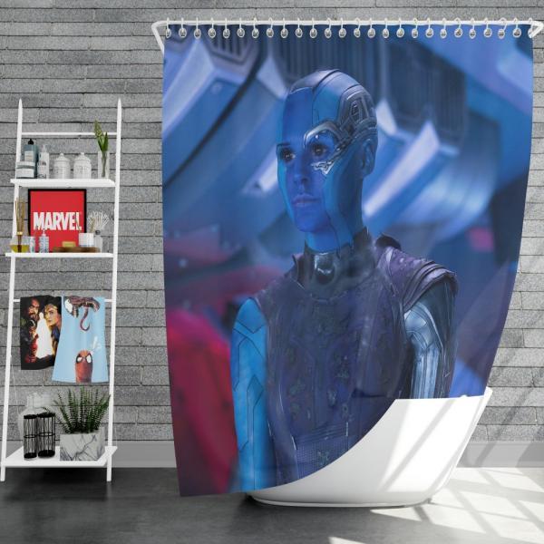 Captain Nebula Marvel Comics Shower Curtain