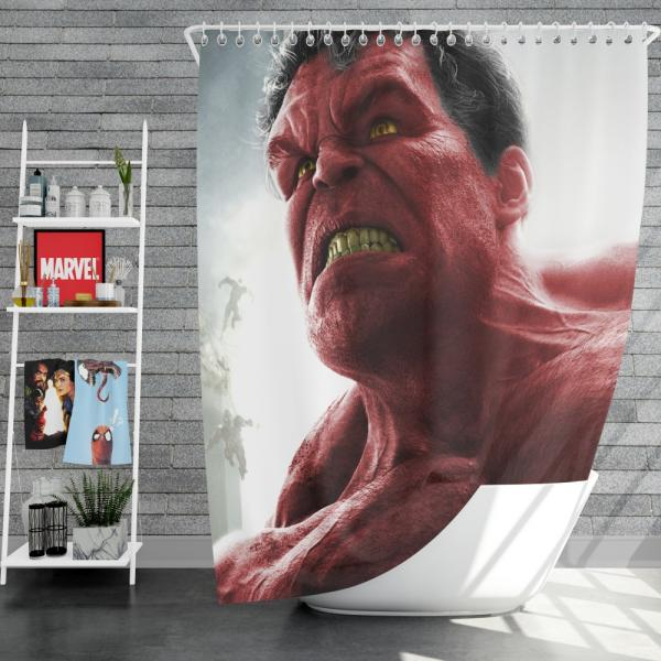 Comics Red Hulk Fall of the Hulks Prelude Marvel Shower Curtain