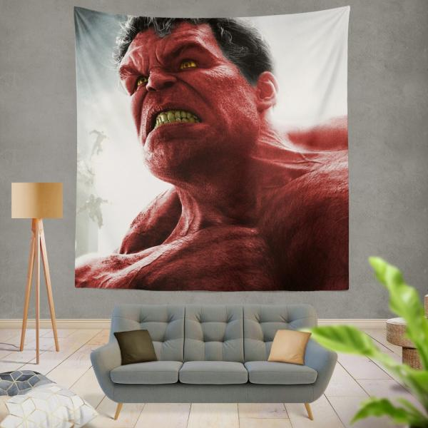 Comics Red Hulk Fall of the Hulks Prelude Marvel Wall Hanging Tapestry