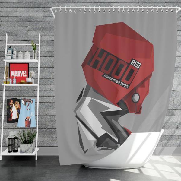 DC Arkham Knight Batman Video Games Red Hood Shower Curtain
