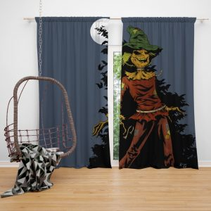DC Comics Scarecrow Batman Injustice League Bedroom Window Curtain