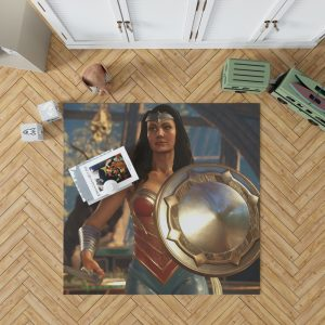 DC Comics Wonder Woman Injustice 2 Video Game Bedroom Living Room Floor Carpet Rug