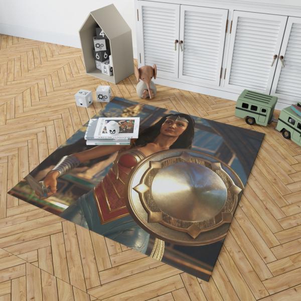 DC Comics Wonder Woman Injustice 2 Video Game Bedroom Living Room Floor Carpet Rug