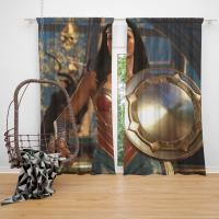 DC Comics Wonder Woman Injustice 2 Video Game Bedroom Window Curtain