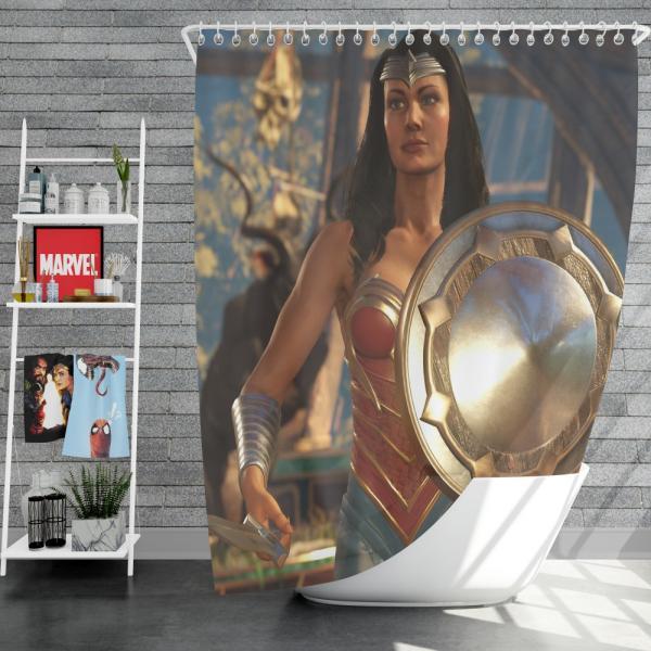 DC Comics Wonder Woman Injustice 2 Video Game Shower Curtain