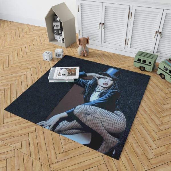 DC Comics Zatanna Sentinels of Magic Bedroom Living Room Floor Carpet Rug