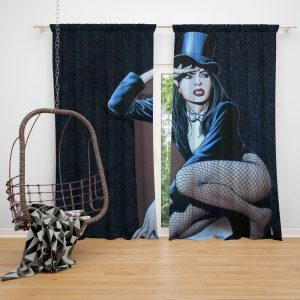 DC Comics Zatanna Sentinels of Magic Bedroom Window Curtain