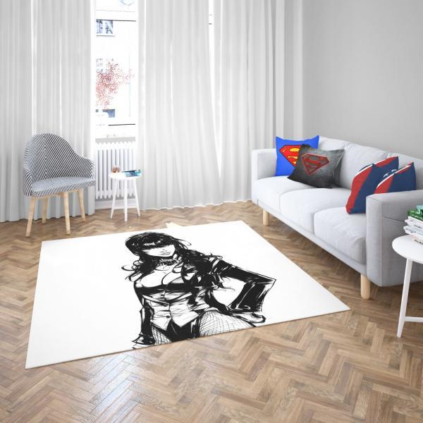 DC Comics Zatanna Women Super Hero Bedroom Living Room Floor Carpet Rug