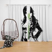 DC Comics Zatanna Women Super Hero Bedroom Window Curtain