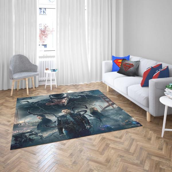 Deadpool and Venom Crossover Comics Bedroom Living Room Floor Carpet Rug
