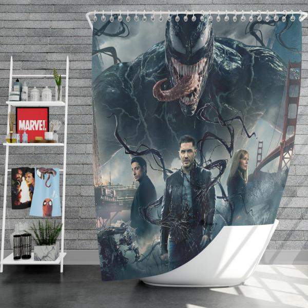 Deadpool and Venom Crossover Comics Shower Curtain