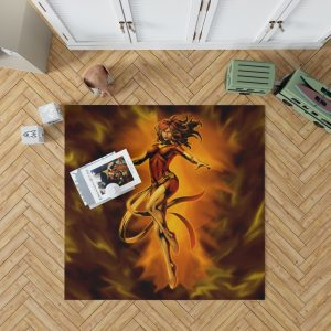 Fenix Renasce Jean Gray Phoenix Marvel Bedroom Living Room Floor Carpet Rug