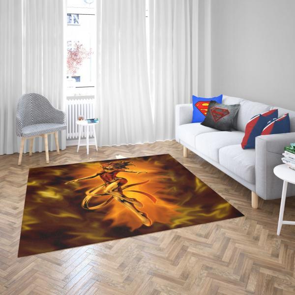 Fenix Renasce Jean Gray Phoenix Marvel Bedroom Living Room Floor Carpet Rug