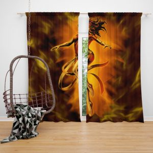 Fenix Renasce Jean Gray Phoenix Marvel Bedroom Window Curtain