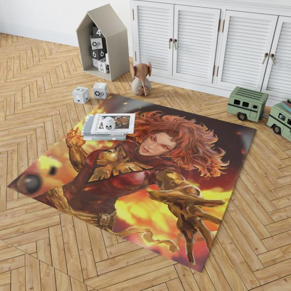 Jean Grey Comics X-Men Phoenix Marvel Comics Dark Phoenix Mutant Bedroom Living Room Floor Carpet Rug
