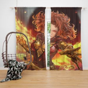 Jean Grey Comics X-Men Phoenix Marvel Comics Dark Phoenix Mutant Bedroom Window Curtain