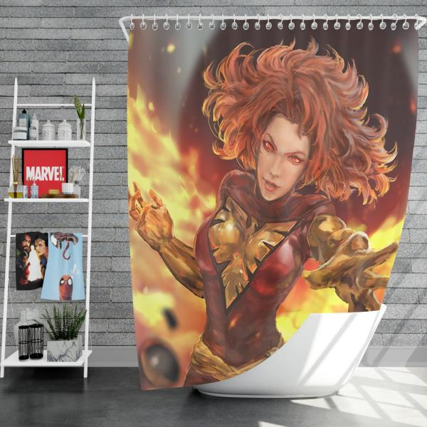Jean Grey Comics X-Men Phoenix Marvel Comics Dark Phoenix Mutant Shower Curtain