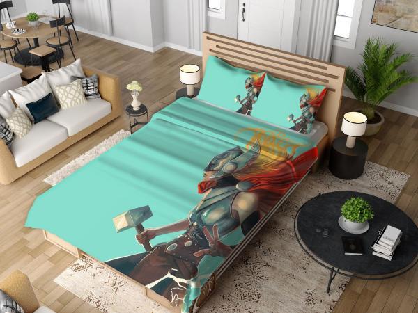 Lady Thor Marvel Comics Bedding Set