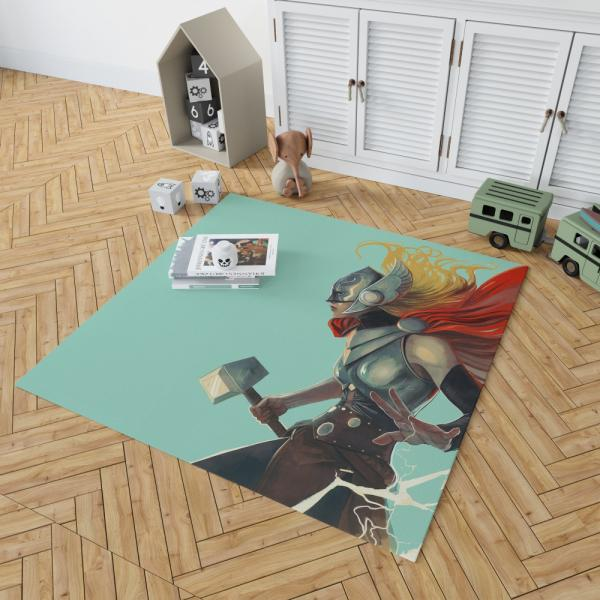 Lady Thor Marvel Comics Bedroom Living Room Floor Carpet Rug