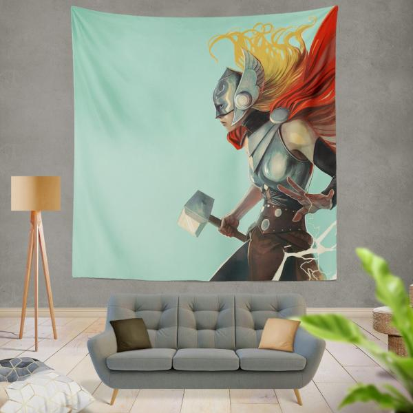 Lady Thor Marvel Comics Wall Hanging Tapestry