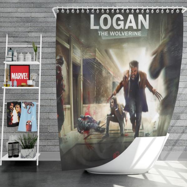Logan The Wolverine Movie Laura Kinney X-23 Shower Curtain
