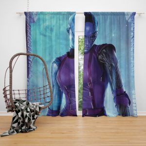 Marvel Comics Nebula Guardians of the Galaxy Bedroom Window Curtain