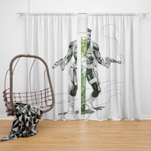 Marvel Comics Nick Fury Secret Warriors  Bedroom Window Curtain