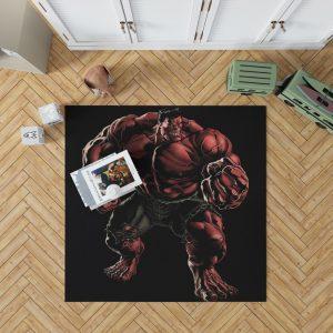 Marvel Comics Red Hulk Hulkbusters Bedroom Living Room Floor Carpet Rug