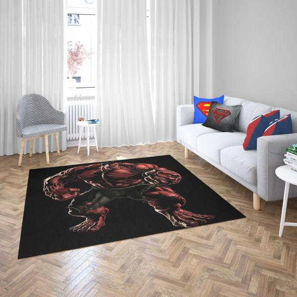 Marvel Comics Red Hulk Hulkbusters Bedroom Living Room Floor Carpet Rug