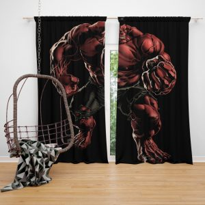 Marvel Comics Red Hulk Hulkbusters Bedroom Window Curtain