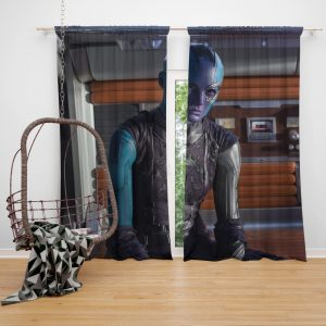 Ms Peale Nebula Marvel Cinematic Universe Bedroom Window Curtain