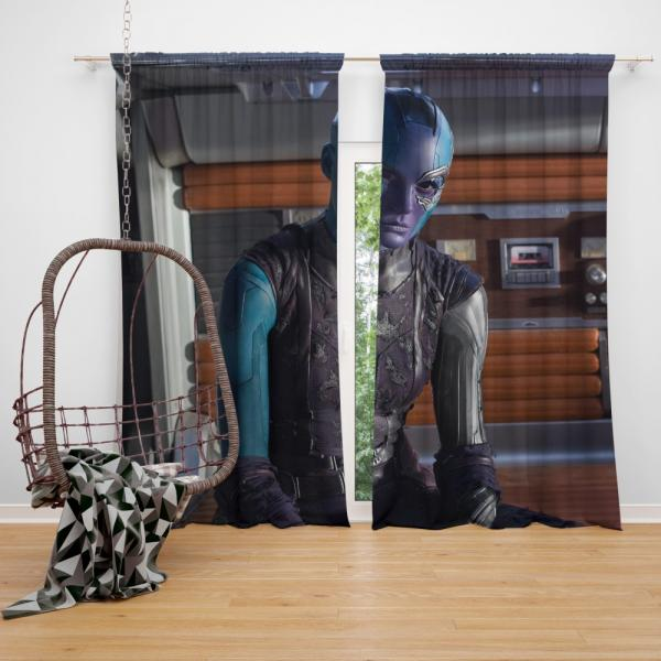 Ms Peale Nebula Marvel Cinematic Universe Bedroom Window Curtain