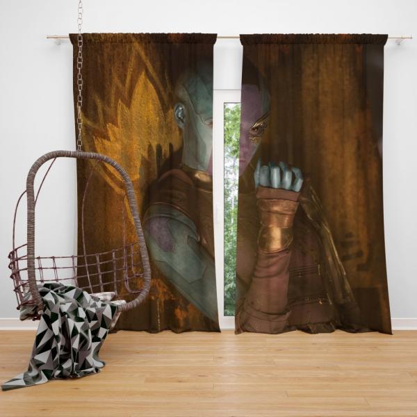 Nebula Comics Karen Gillan Super Heroein Bedroom Window Curtain