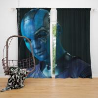 Nebula Marvel Comics Karen Gillan in Guardians of the Galaxy Movie Bedroom Window Curtain