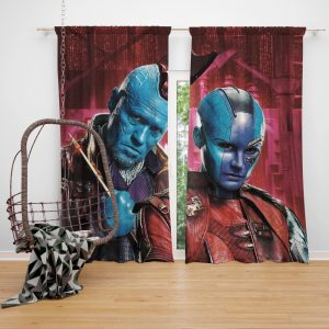 Nebula & Yondu Udonta Marvel Comics Guardians of the Galaxy Vol 2 Bedroom Window Curtain
