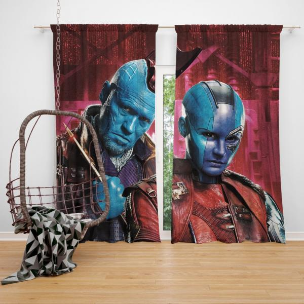 Nebula & Yondu Udonta Marvel Comics Guardians of the Galaxy Vol 2 Bedroom Window Curtain