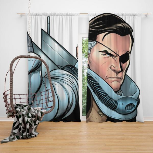 Nick Fury Agent of SHIELD Bedroom Window Curtain
