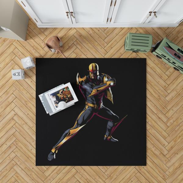 Nova New Warriors Marvel Comics Bedroom Living Room Floor Carpet Rug