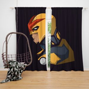 Nova Secret Avengers Marvel Comics Bedroom Window Curtain