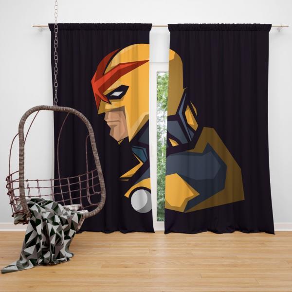 Nova Secret Avengers Marvel Comics Bedroom Window Curtain
