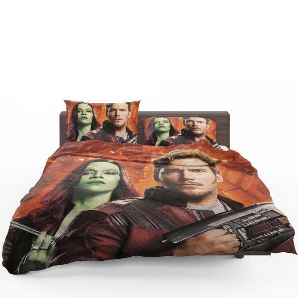Peter Quill Star Lord Gamora Chris Pratt Zoe Saldana Guardians of the Galaxy Vol 2 Movie Bedding Set