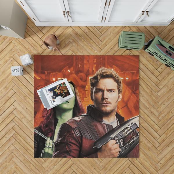 Peter Quill Star Lord Gamora Chris Pratt Zoe Saldana Guardians of the Galaxy Vol 2 Movie Bedroom Living Room Floor Carpet Rug