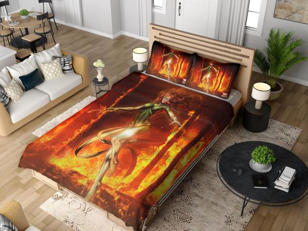 Phoenix Comic in Marvel vs Capcom 3 Fate of Two Worlds Video Game Bedding Set