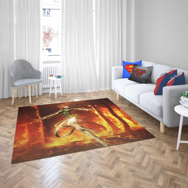 Phoenix Comic in Marvel vs Capcom 3 Fate of Two Worlds Video Game Bedroom Living Room Floor Carpet Rug